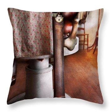 Barber - The Strop Throw Pillow by Mike Savad