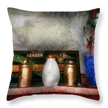 Barber - Things You Stare At  Throw Pillow by Mike Savad