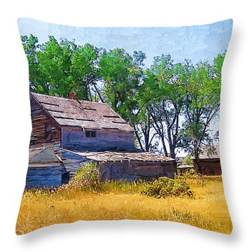 Throw Pillow featuring the photograph Barber Homestead by Susan Kinney