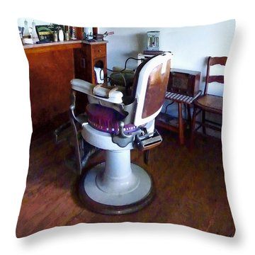 Barber - Old-fashioned Barber Chair Throw Pillow