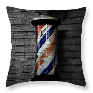 Barber Pole Blues  Throw Pillow