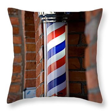 Barber Pole Throw Pillow