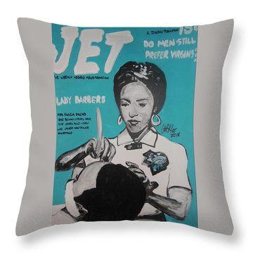 Barber Shortage Throw Pillow