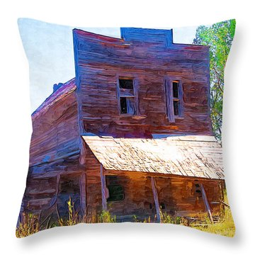 Throw Pillow featuring the photograph Barber Store by Susan Kinney