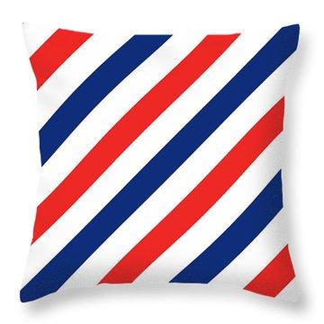 Barber Stripes Throw Pillow