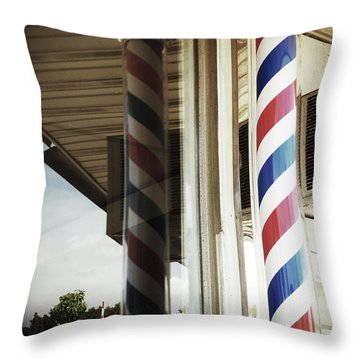 Barbershop Pole Throw Pillow