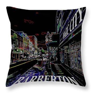 Barberton The Magic City Throw Pillow