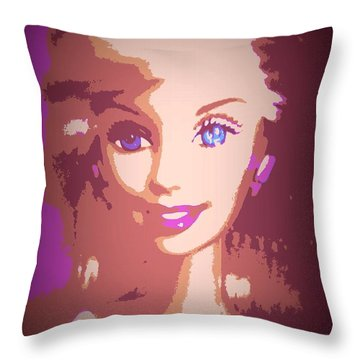 Barbie Hip To Be Square Throw Pillow