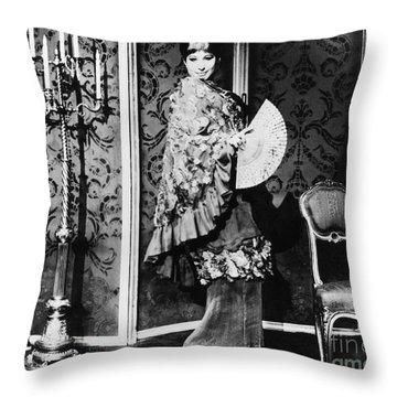 Barbra Streisand (1942- ) Throw Pillow by Granger