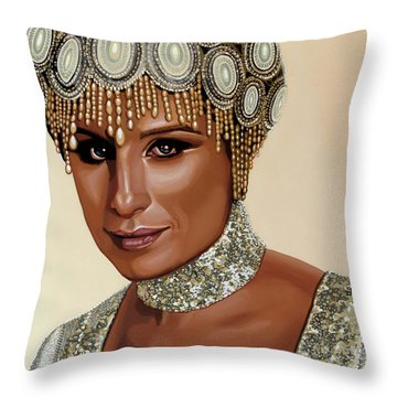 Barbra Streisand 2 Throw Pillow by Paul Meijering