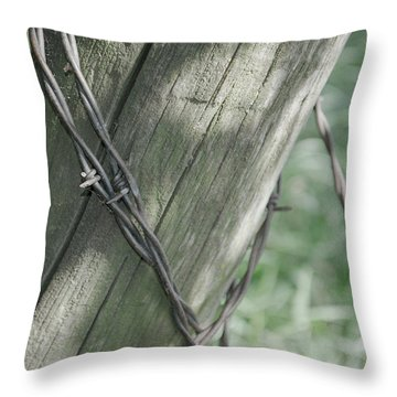 Barbwire Shadow Throw Pillow
