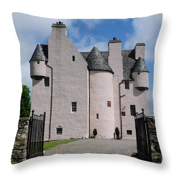 Barcaldine Castle Throw Pillow