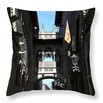 Throw Pillow featuring the photograph Barcelona 1 by Andrew Fare