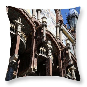 Throw Pillow featuring the photograph Barcelona 4 by Andrew Fare