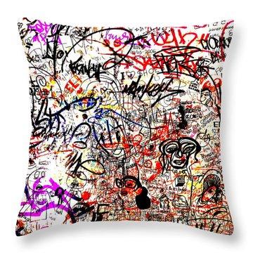 Barcelona Graffiti Heaven Throw Pillow