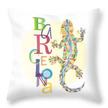 Barcelona Lizard Throw Pillow