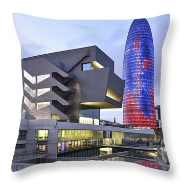 Barcelona Modern Architecture Throw Pillow by Marek Stepan