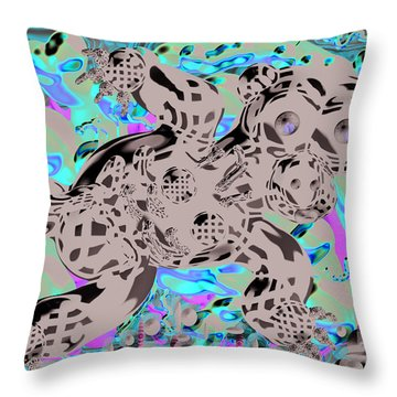 Bare Bear Throw Pillow by Marko Mitic