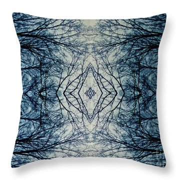 Bare Branch Connection Throw Pillow