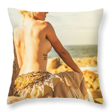 Bare Elegance Throw Pillow