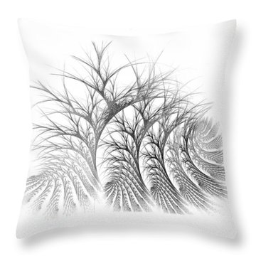 Bare Trees Daylight Throw Pillow