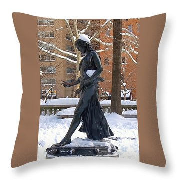 Throw Pillow featuring the photograph Barefoot In The Park by Rona Black