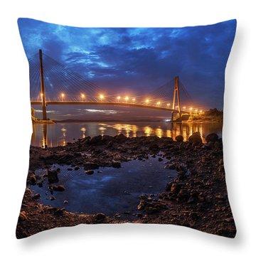 Barelang Bridge, Batam Throw Pillow