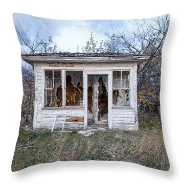 Throw Pillow featuring the photograph Barely Standing by Fran Riley
