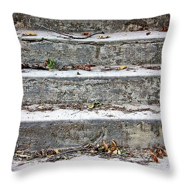 Barge Town Grocery Steps Throw Pillow