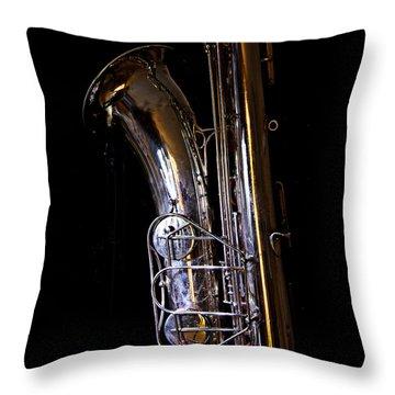 Bari Sax Throw Pillow