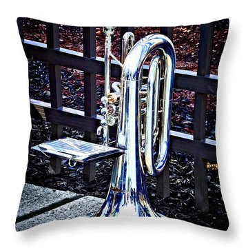 Baritone Horn Before Parade Throw Pillow