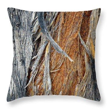 Throw Pillow featuring the photograph Bark Of Palm by Lynda Lehmann