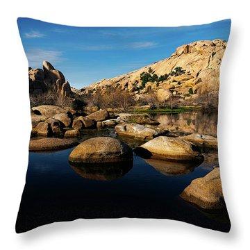 Barker Dam Lake Throw Pillow