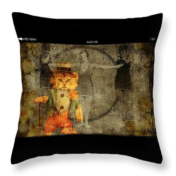 Throw Pillow featuring the digital art Barker by Delight Worthyn