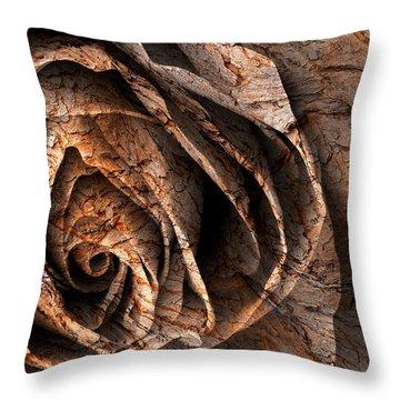 Barking Rose Throw Pillow by Nicolas Raymond