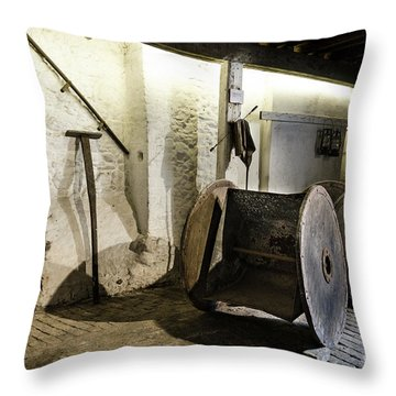 Throw Pillow featuring the photograph Barley Warehouse At Lockes Distillery by RicardMN Photography