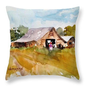 Barn # 2 Throw Pillow