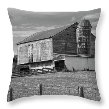 Throw Pillow featuring the photograph Barn 1 by Mike McGlothlen