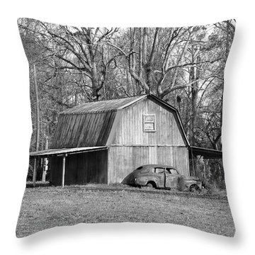 Throw Pillow featuring the photograph Barn 2 by Mike McGlothlen