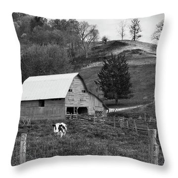 Throw Pillow featuring the photograph Barn 4 by Mike McGlothlen