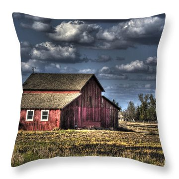 Throw Pillow featuring the photograph Barn After Storm by Jim and Emily Bush