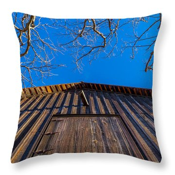 Barn And Trees Throw Pillow