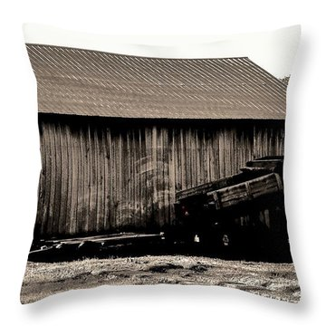 Barn And Truck Throw Pillow