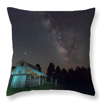 Barn In Rocky Throw Pillow