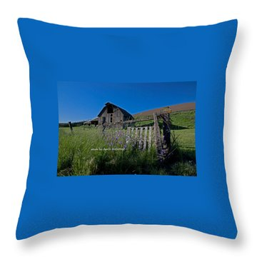 Barn In Springtime Throw Pillow