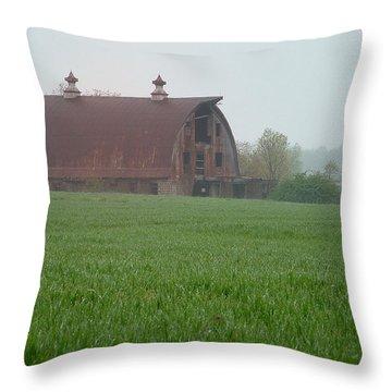 Barn In Summer Throw Pillow