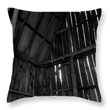 Barn Inside Throw Pillow