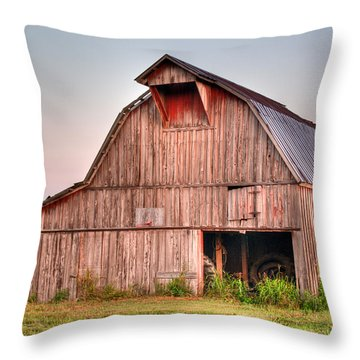 Barn Near Walnut Ridge Arkansas Throw Pillow by Douglas Barnett