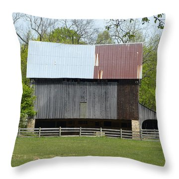 Barn Of Fair Hill Throw Pillow by Donald C Morgan