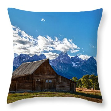 Barn On Mormon Row Throw Pillow